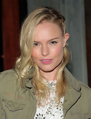 Kate Bosworth attended Nylon Magazine's March issue party wearing a messy-chic half-braided hairstyle.