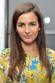 Camilla Belle graced the Women's Filmmaker Brunch wearing a simple side-parted hairstyle.