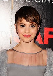Sami Gayle made her eyes pop with a swipe of metallic silver shadow.