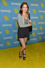 Anna Kendrick looked laid-back in a cardigan layered over a tank top during Entertainment Weekly's Comic-Con celebration.