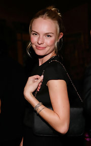 Kate Bosworth finished off her ensemble with layers of silver bracelets.