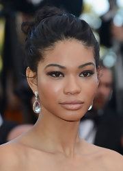 Chanel Iman accessorized with a lovely pair of David Yurman crystal drop earrings at the Cannes premiere of 'Cleopatra.'