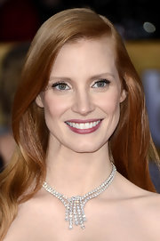 Jessica Chastain's Harry Winston diamond chandelier necklace at the SAG Awards left us completely breathless!
