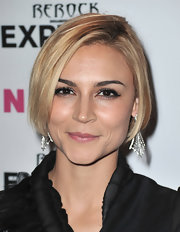 Samaire Armstrong kept it classic with this short bob at the Nylon + Express Denim Issue party.