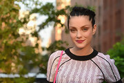 Jessica Stam showed us how to wear a braid the edgy way during the Summer Party on the High Line.