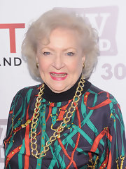 Betty White stuck to her usual curly bob when she attended the TV Land Holiday Party.