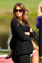 Melania Trump donned oversized sunnies while attending the 39th Ryder Cup Opening Ceremony.