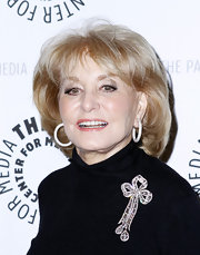 Barbara Walters attended the Paley Center New York Gala wearing her hair in a teased bob.