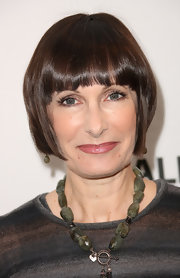 Gale Ann Hurd attended PaleyFest 2011 wearing a short hairstyle with blunt bangs.