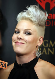 Pink wore her hair in a wavy fauxhawk at the 2012 iHeartRadio Music Festival.