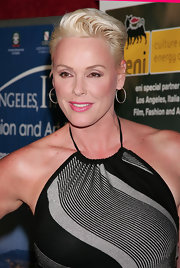 Brigitte Nielsen styled her hair into a fauxhawk for the Los Angeles Italia-Film, Fashion and Art Festival.