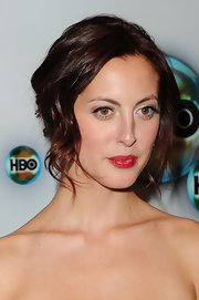 Lush red lipstick lifted Eva's otherwise understated make-up look at HBO's Post 2012 Golden Globe Awards Party.