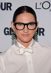 Jenna Lyons pulled her hair back in a stark center-parted bun for the Glamour Women of the Year Awards.