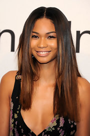 Chanel Iman sported long blunt hair while attending An Evening with Ralph Lauren.