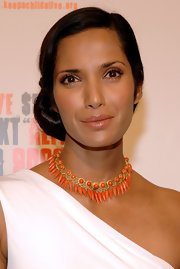 Padma Lakshmi looked very classy wearing this side chignon at the Keep a Child Alive Black Ball.