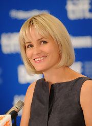 Judith Godreche went for a sweet bob with wispy bangs at the TIFF press conference for 'Poitche.'