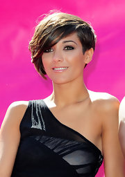 Frankie Sandford looked super cool with her short emo cut at the Big Sofa/Night In event.
