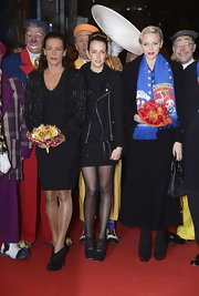 Pauline Ducruet teetered on a pair of strappy black platform pumps at the Monte-Carlo International Circus Festival closing ceremony.