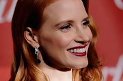 Jessica Chastain accessorized with a chic pair of dangling diamond and onyx spheres by Cartier at the Palm Springs International Film Festival Awards Gala.