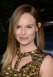 Kate Bosworth opted for a sleek straight hairstyle when she attended the Topshop Topman LA opening party.