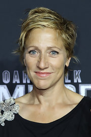 Edie Falco looked tough-chic with her layered razor cut at the New York premiere of 'Boardwalk Empire.'