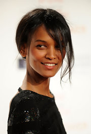 Liya Kebede pulled off this messy updo at the RFK Center Ripple of Hope Awards.