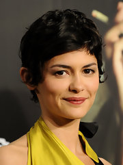 Audrey Tautou attended the Madrid premiere of 'Coco' wearing a cute pixie cut.