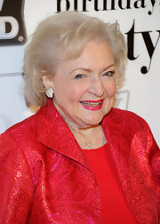 Betty White styled her hair into a classic bob for her 89th birthday party.