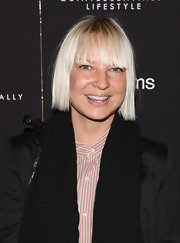 Sia wore a short straight cut with bangs at the New York screening of 'Liberal Arts.'