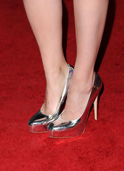 Yup, now we definitely want a pair of silver platform pumps!