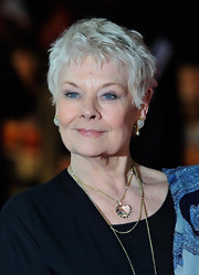 Judi Dench sported a tousled pixie at the world premiere of 'The Best Exotic Marigold Hotel.'