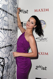 A simple ponytail helped complete Jaimie Alexander's casual chic look.