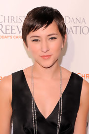 Zelda Williams wore her hair in a pixie at the Magical Evening 20th anniversary gala.