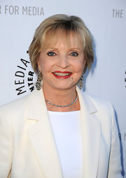 Florence Henderson sported a short hairstyle with wispy bangs at the 'Debbie Reynolds: The Exhibit' reception.