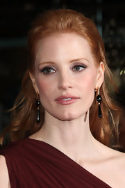 Jessica Chastain attended the 'Coriolanus' premiere in Berlin wearing a pair of Jack Vartanian black agate and diamond drop earrings.