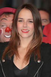 Pauline Ducruet wore a long, straight 'do with a center part at the 37th International Circus Festival.