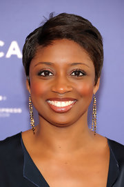 Montego Glover sported a neat short 'do at the premiere of 'The Battle of amfAR.'