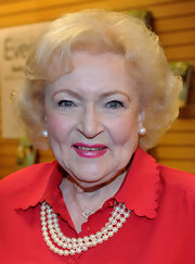 Betty White styled her hair into a curly bob for her book signing.