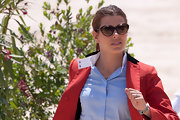 Charlotte Casiraghi kept the sun out with a pair of Ray-Ban cateye shades at the Global Champions Tour in Cannes.