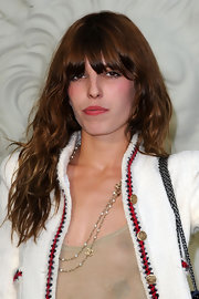 Lou Doillon attended the Chanel fashion show rocking her trademark messy waves.