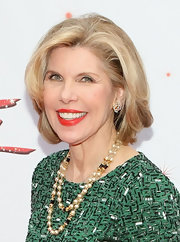 Christine Baranski attended the media opening for 'Kinky Boots' wearing a classic bob.