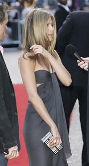 Jennifer Aniston amped up the sparkle with a massive silver ring.