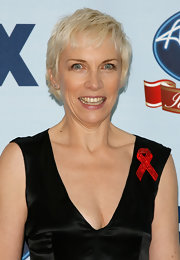 Annie Lennox wore her hair in a messy pixie at the 'American Idol Gives Back' show.
