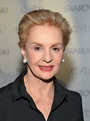 Carolina Herrera attended the 2012 CFDA Awards nominee announcement wearing a simple short hairstyle.