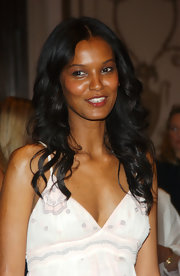 Liya Kebede attended the Hot Pink Party wearing her hair in ultra-girly curls.