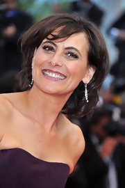 Ines de la Fressange wore her hair in a bouncy bob at the Cannes Film Festival premiere of 'Sleeping Beauty.'