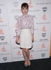 Sami Gayle wore s cute bowling pin-print blouse to the special screening of 'Two Days in New York.'