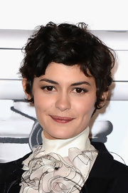 Audrey Tautou wore her hair in a messy-chic style at the 'No. 5 Culture Chanel' exhibition.
