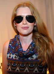 Mireille Enos wore a pair of sunnies at the Primetime Emmy Awards lounge.