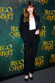 Lou Doillon looked very polished in her black side-stripe tuxedo during the 'Hugo Cabret 3D' premiere.